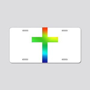 Rainbow cross Aluminum License Plate
