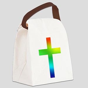 Rainbow cross Canvas Lunch Bag