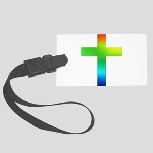 Rainbow cross Large Luggage Tag