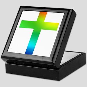 Rainbow cross Keepsake Box