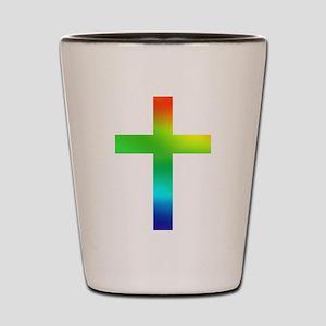 Rainbow cross Shot Glass