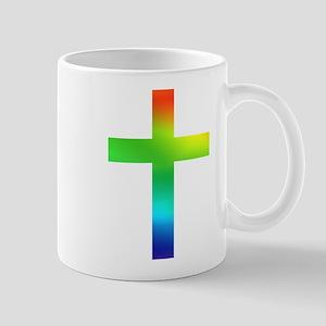 Rainbow cross Mug