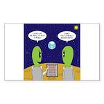 Alien Travel Advisory Sticker (Rectangle 10 pk)