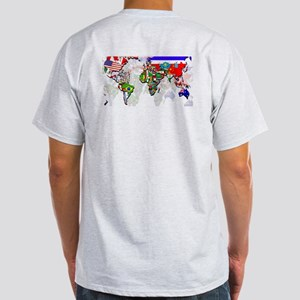 World Flag Map Light T-Shirt