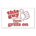 This Guy Turns Grills Sticker (Rectangle 10 pk)