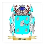Aleman Square Car Magnet 3