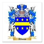 Alfonso Square Car Magnet 3
