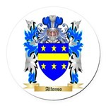 Alfonso Round Car Magnet