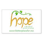 Share your H.O.P.E. Sticker (Rectangle 10 pk)
