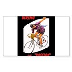 Biking is My Passion, Bi Sticker (Rectangle 10 pk)