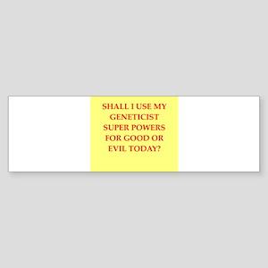 geneticist Sticker (Bumper)