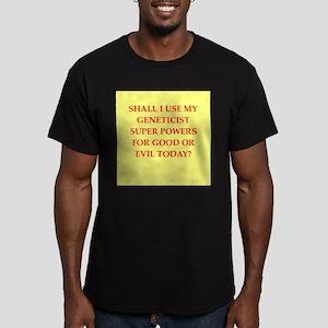 geneticist Men's Fitted T-Shirt (dark)