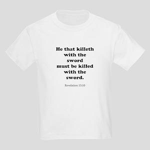 Revelation 13:10 Kids Light T-Shirt