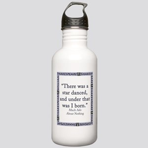 There Was A Star Danced Water Bottle