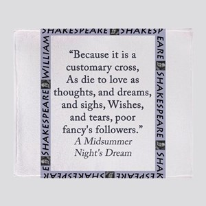 Because It Is A Customary Cross Throw Blanket
