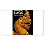 Laos Vintage Travel Prin Sticker (Rectangle 10 pk)