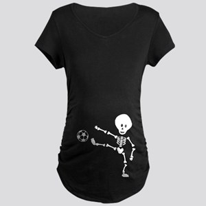 Soccer Skeleton Maternity Dark T-Shirt
