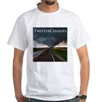 TwisterChasers Tornado White T-Shirt