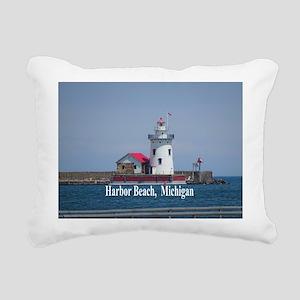 Harbor Beach Rectangular Canvas Pillow