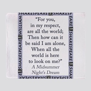 For You, In My Respect Throw Blanket