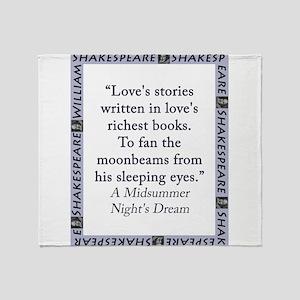 Loves Stories Written Throw Blanket