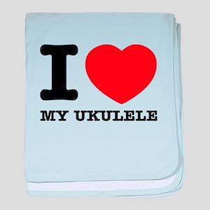 I Love My Ukulele baby blanket