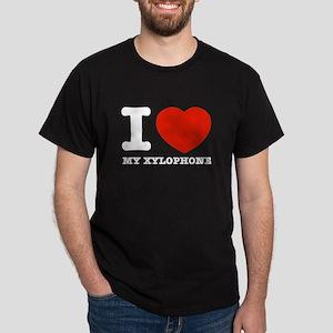 I Love My Xylophone Dark T-Shirt