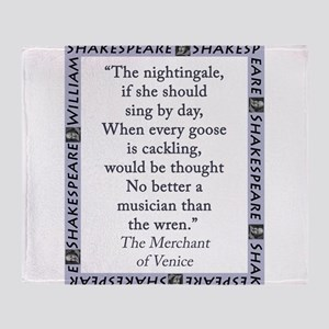 The Nightingale, If She Should Sing Throw Blanket