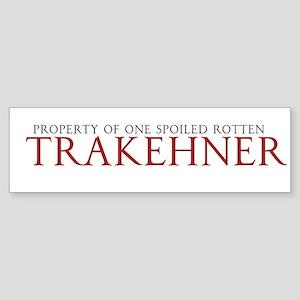 Spoiled Rotten Trakehner Bumper Sticker