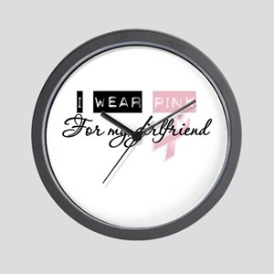 I Wear Pink For My Girlfriend (BCA) Wall Clock