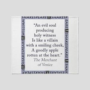 An Evil Soul Producing Throw Blanket