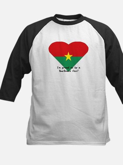 Burkina-Faso flag Kids Baseball Jersey