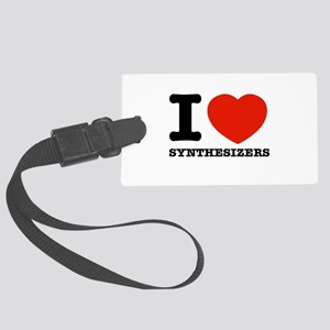 I Love Synthesizers Large Luggage Tag