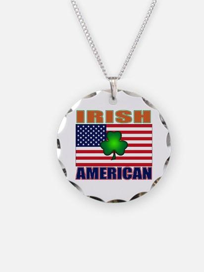 Irish American Pride Necklace Circle Charm
