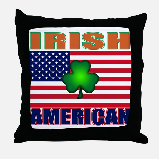 Irish American Pride Throw Pillow