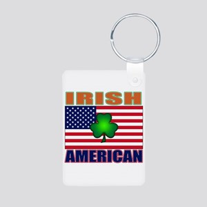 Irish American Pride Aluminum Photo Keychain