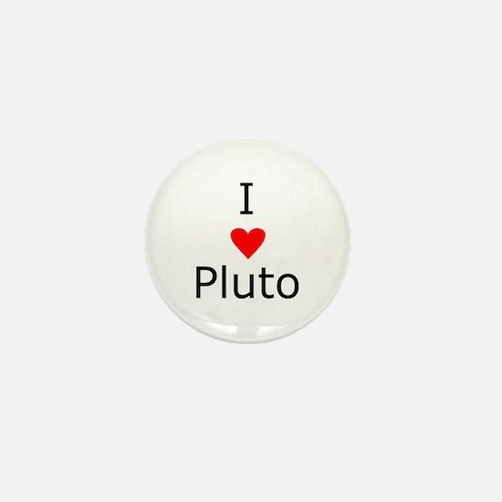 i heart Pluto Mini Button
