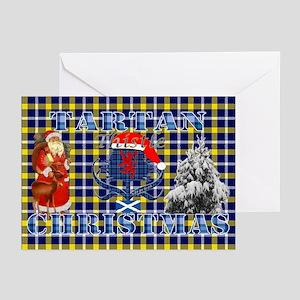 Blue Tartan Thistle Christmas Greeting Cards 10Pk