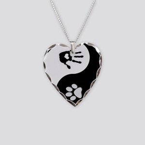 Dog Paw Print & Handprint Yin Yang Necklace He