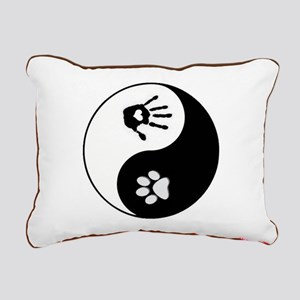 Dog Paw Print & Handprint Yin Yang Rectangular