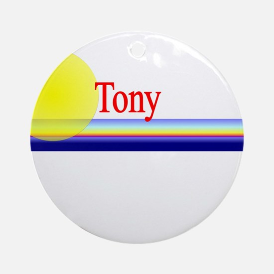 Tony Ornament (Round)