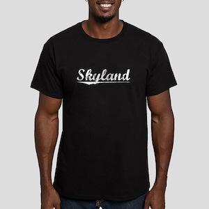 Aged, Skyland Men's Fitted T-Shirt (dark)