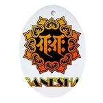 Ganesha bonji Ornament (Oval)