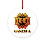 Ganesha bonji Ornament (Round)