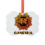 Ganesha bonji Picture Ornament