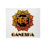 Ganesha bonji Throw Blanket