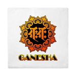 Ganesha bonji Queen Duvet