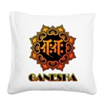 Ganesha bonji Square Canvas Pillow