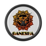 Ganesha bonji Large Wall Clock