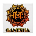 Ganesha bonji Tile Coaster